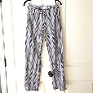 EUC Navy & White striped pants
